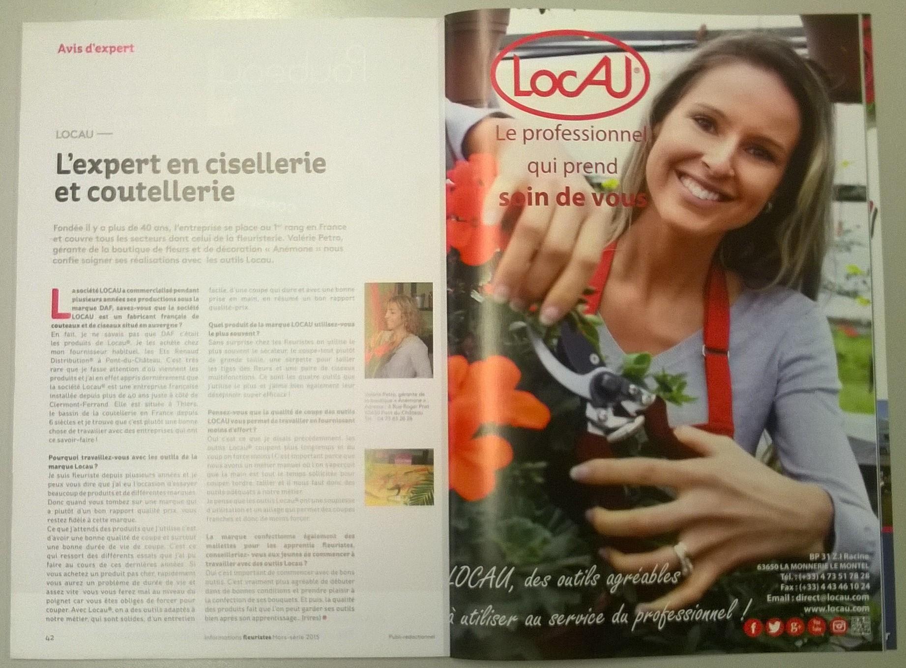 JANVIER 2015 - Presse - Informations Fleuristes
